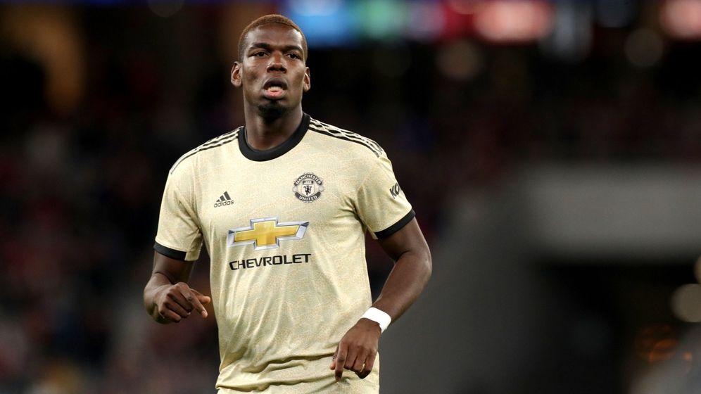 Foto: Paul Pogba, con la camiseta del Manchester United durante un amistoso de esta pretemporada. (EFE)
