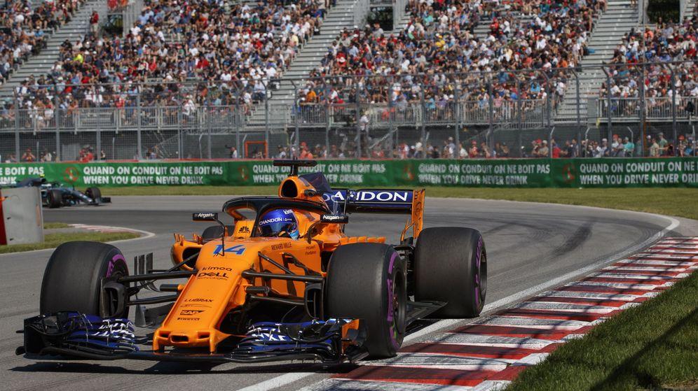 Foto: Alonso, en Canadá. (EFE)