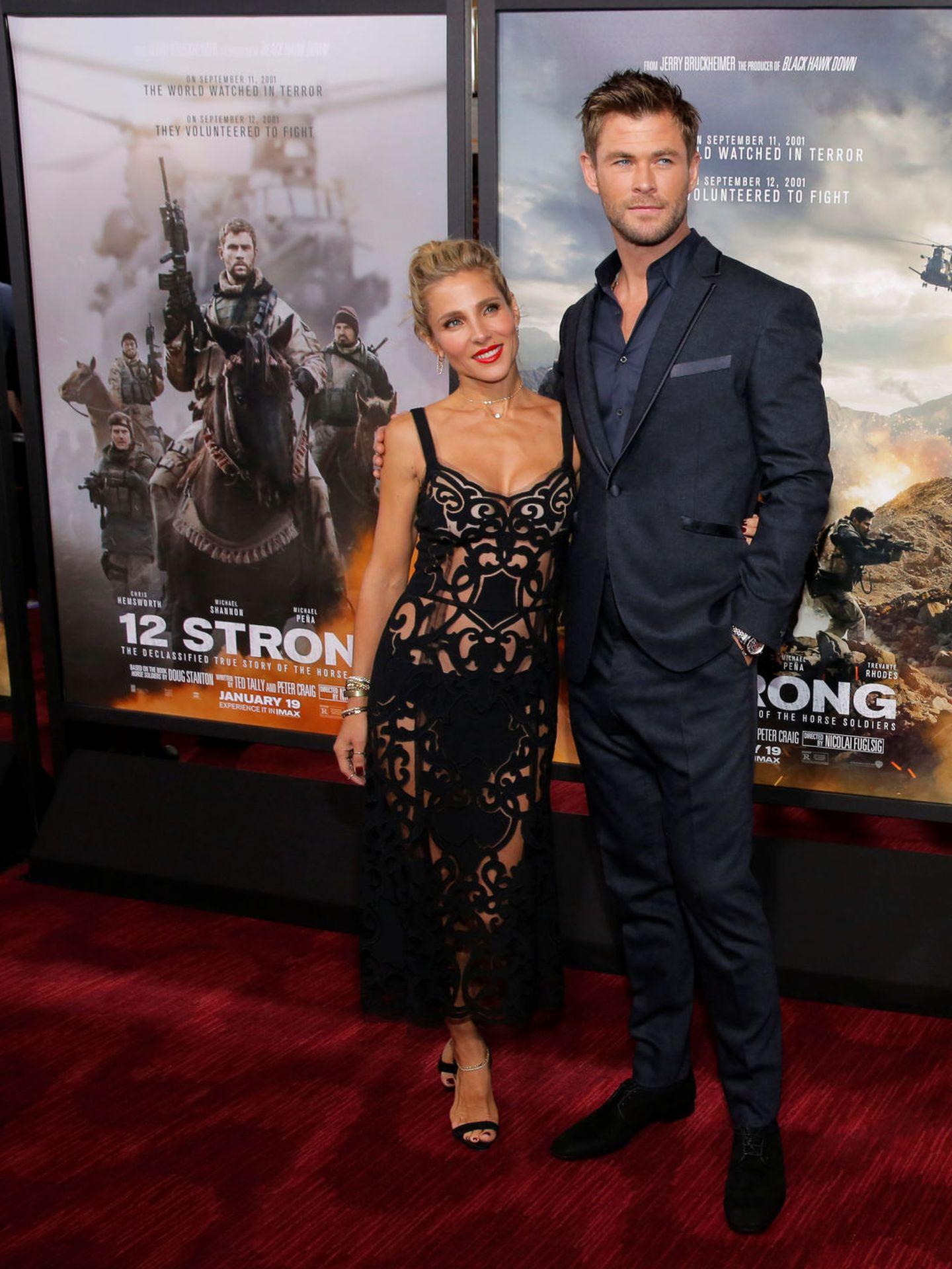 Chris Hemsworth y Elsa Pataky. (Reuters)