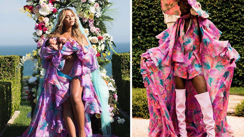Beyoncé presentó a sus gemelas en Instagram vestida de Palomo Spain.