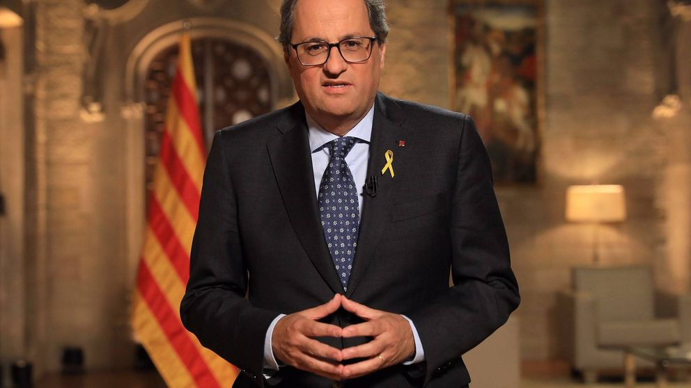 """Torra asegura que la democracia en Cataluña está """"bajo un asedio largo y penoso"""""""