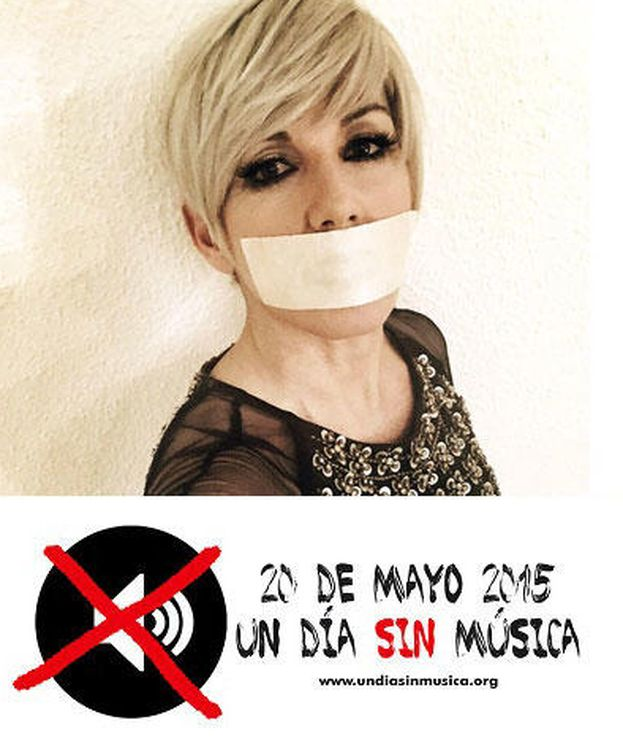 Foto: Ana Torroja se suma a la campaña #undiasinmusica (Un día sin música)