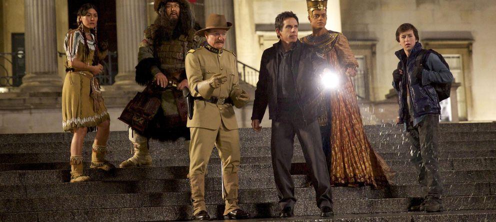 Foto: Robin Williams y Ben Stiller en una escena de la película 'Noche en el Museo 3'.