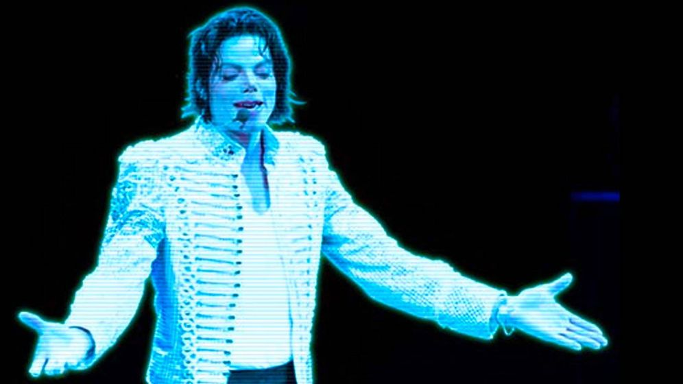 Foto: Holagrama de Michael Jackson en concierto