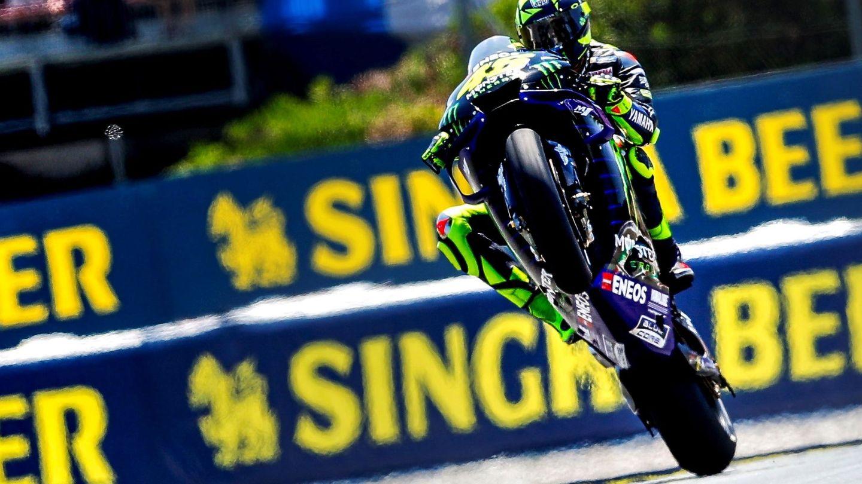 Rossi, durante unos entrenamientos en Barcelona. (EFE)