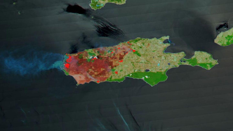 Imagen de la isla tomada por la NASA. (Foto: EFE)