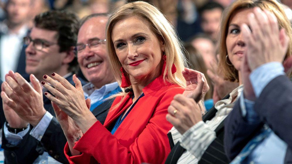 Foto: La presidenta de la Comunidad de Madrid, Cristina Cifuentes, durante la convención nacional del PP. (EFE)