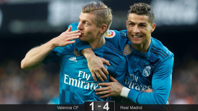 Foto: Kroos y Cristiano, autores de tres goles. (Reuters)