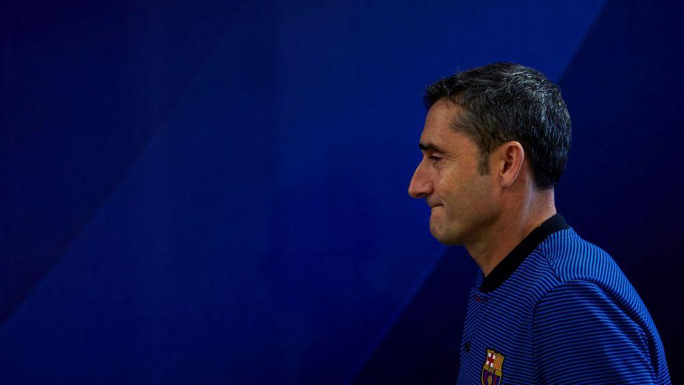 Foto: Ernesto Valverde en la rueda de prensa previa al Atlético. (EFE)