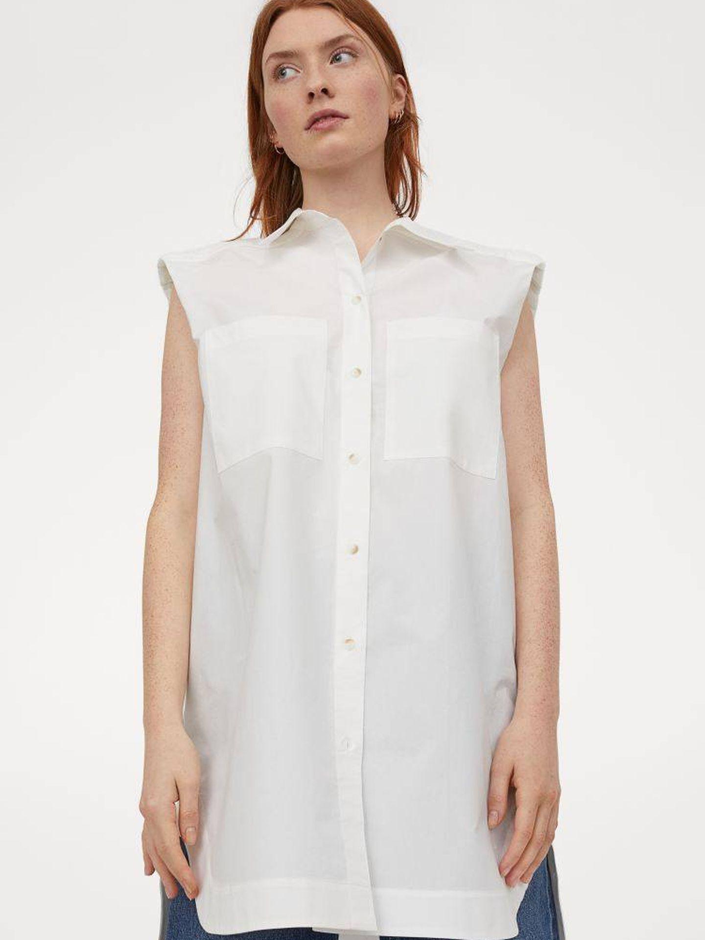 Camisa sin mangas de HyM. (Cortesía)