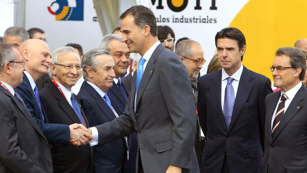El Príncipe vio a 50 empresarios para abordar el 'problema catalán'