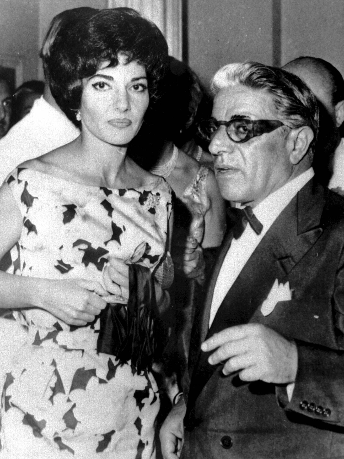 La soprano María Callas y Aristóteles Onassis, en una imagen de archivo. (Cordon Press)