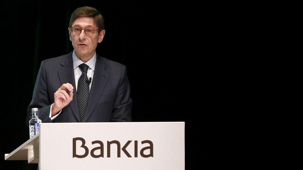 Foto: José Ignacio Goirigolzarri, en la junta de accionistas que aprobó la fusión con BMN. (EFE)