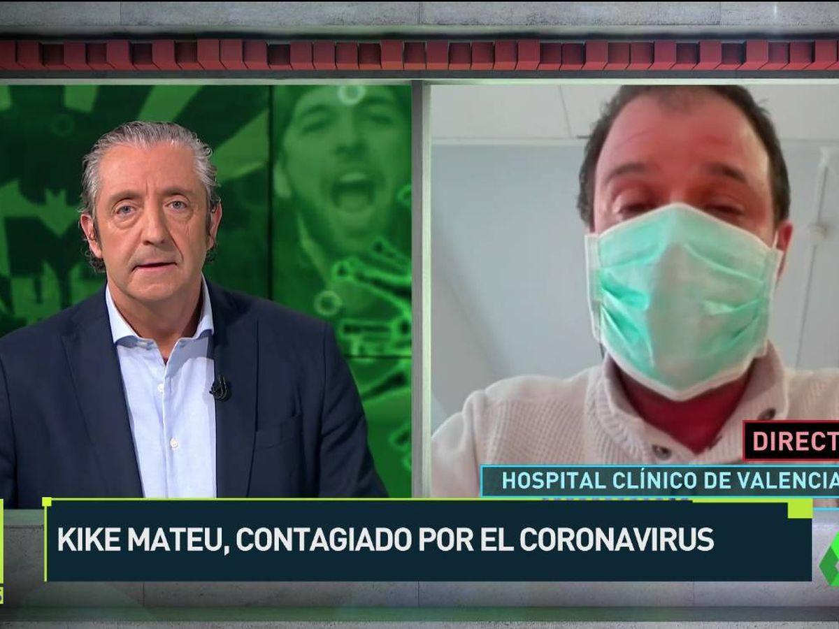 Foto: Kike Mateu, contagiado por el coronavirus. (Atresmedia)