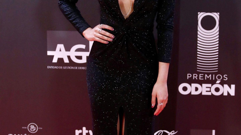 Detalle de la manicura de Aitana en los Premios Odeón. (EFE)