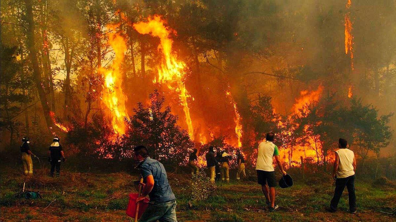Imagen de uno de los incendios del pasado año en Galicia.