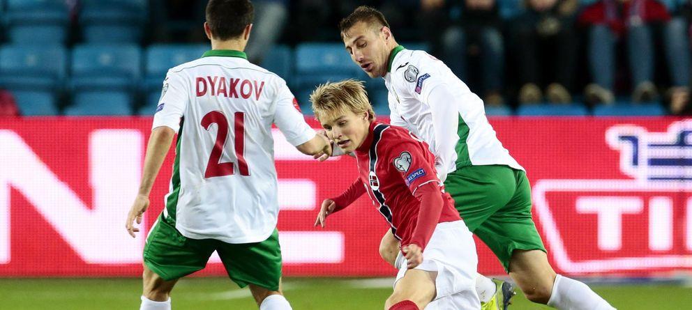Foto: Martin Odegaard, en el histórico partido ante Bulgaria del pasado lunes.