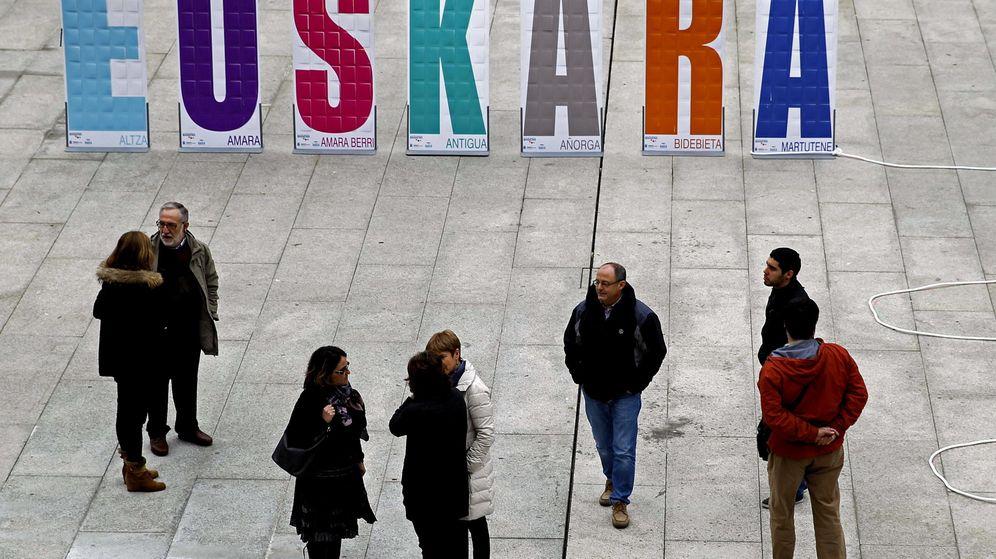 Foto: Celebración del Día Internacional del Euskera. (EFE)
