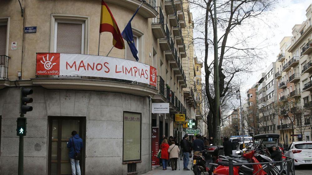 Foto: Sede del sindicato Manos Limpias en Madrid. (EFE)