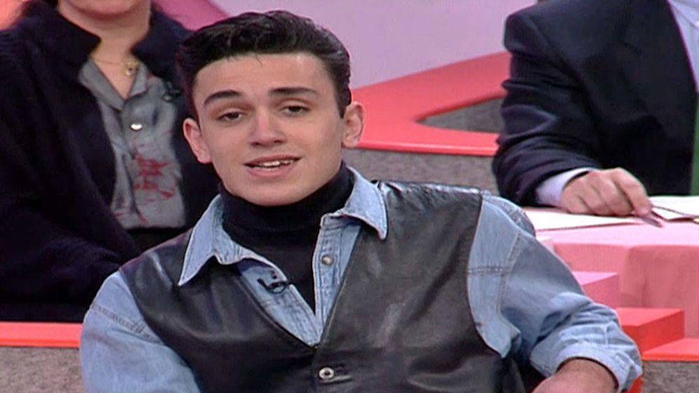Foto: Kiko Hernández, en TV con solo 18 años.