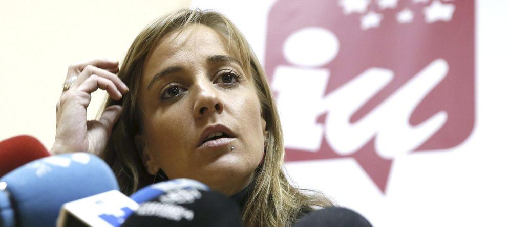 Foto: Tania Sánchez, durante la rueda de prensa que ofreció ayer. (EFE)