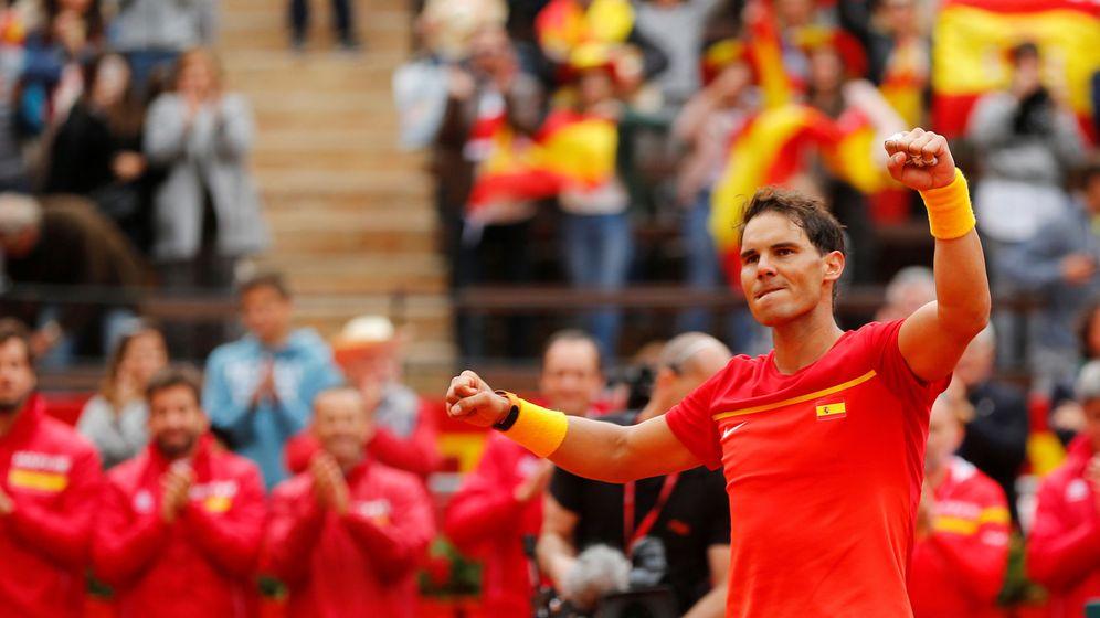 Foto: Nadal, tras su victoria. (Reuters)
