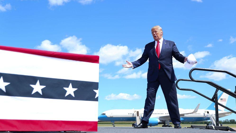 Foto: El presidente de EEUU, Donald Trump, este 17 de agosto. (Reuters)