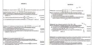 Post de Polémica en Valencia ante el 'inalcanzable' examen de matemáticas de selectividad