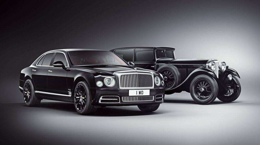 Foto: El nuevo Mulsanne W.O. junto a su antecesor el Bentley de 1930, el último diseñado por W.O. Bentley.