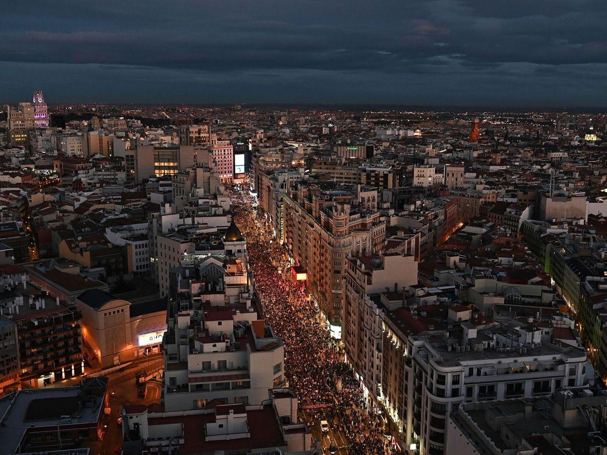 Foto: Manifestación del 8-M en Madrid. (EFE)