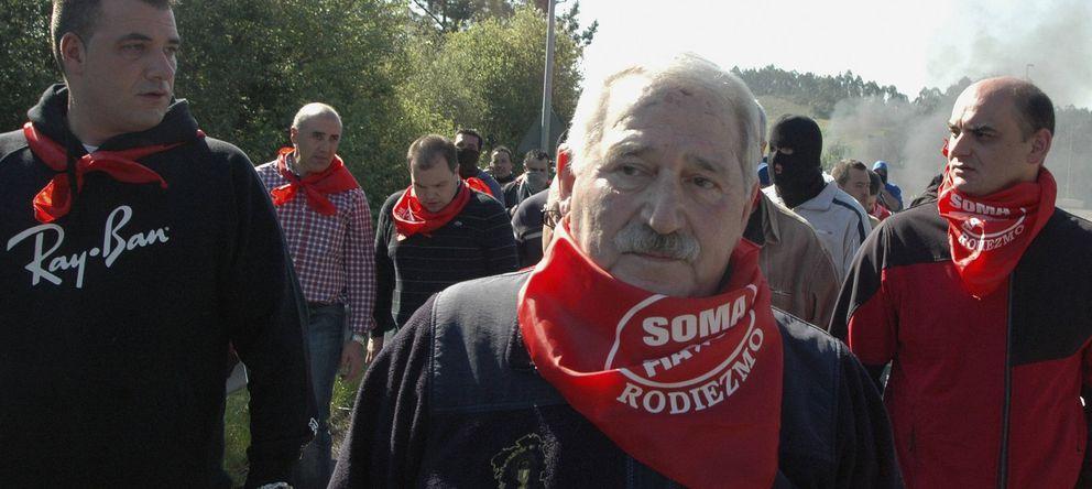 Foto: José Ángel Fernández Villa, en una marcha en 2012. (EFE)