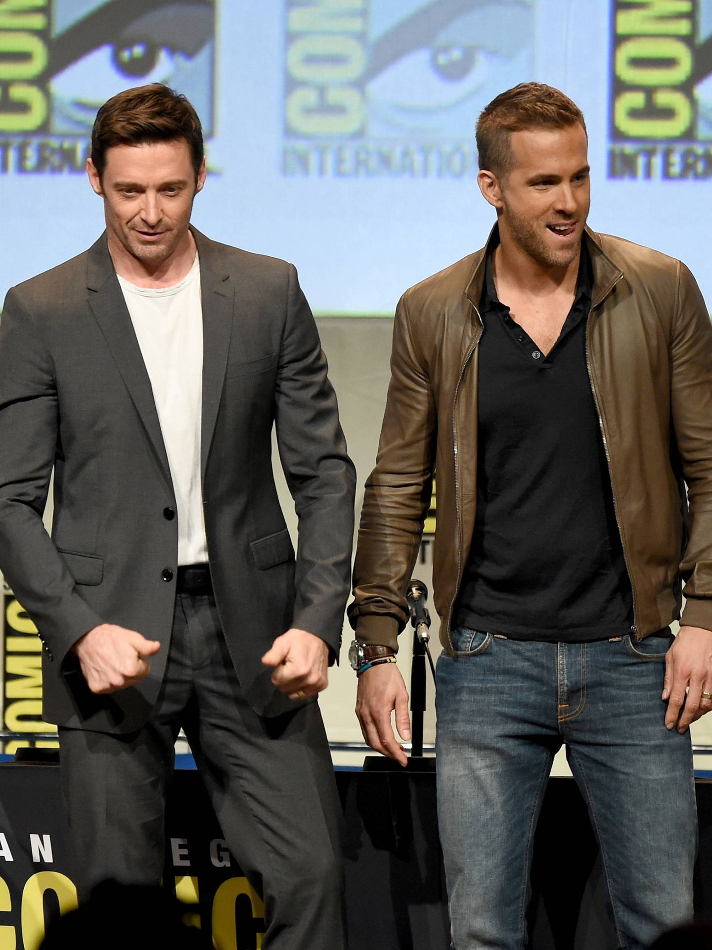Hugh y Ryan, reyes del 'bromance'. (Getty)