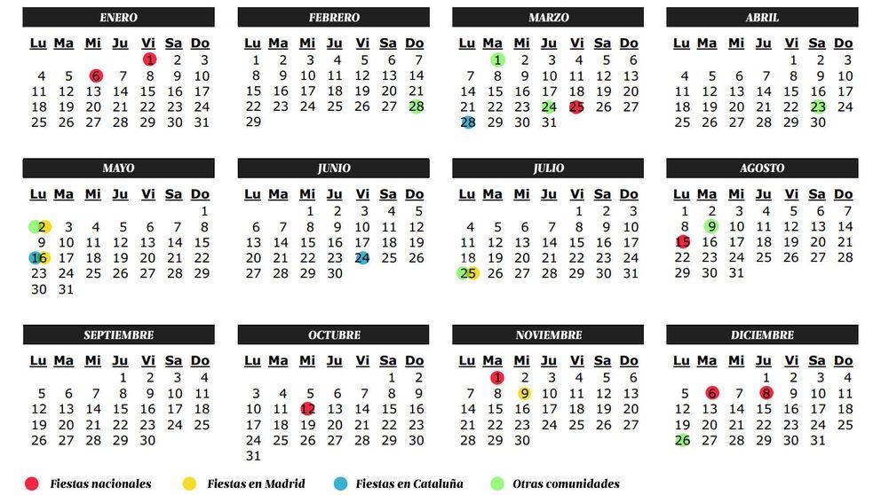 Calendario de fiestas y laborables 2016: así quedan los días libres del año
