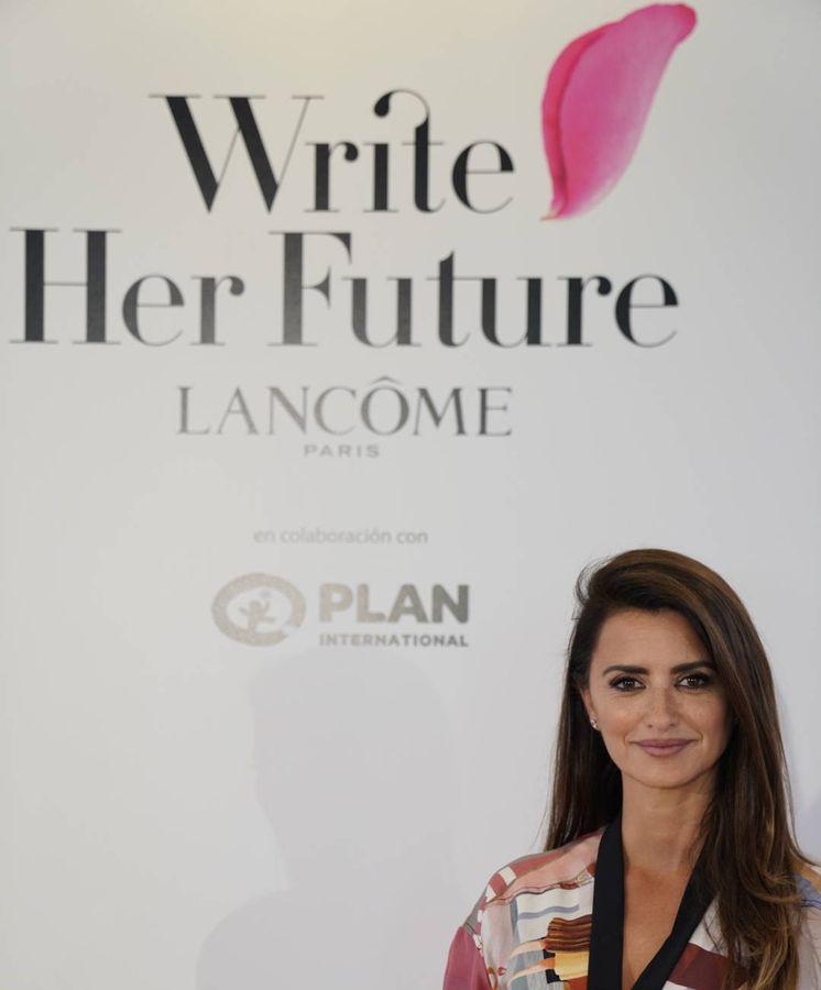 Foto: Penélope Cruz en el evento de la iniciativa Write Her Future.