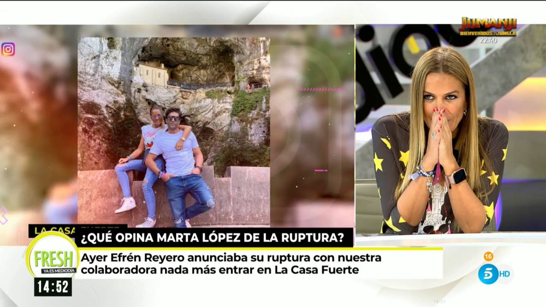 Marta López, en 'Ya es mediodía'. (Mediaset España)