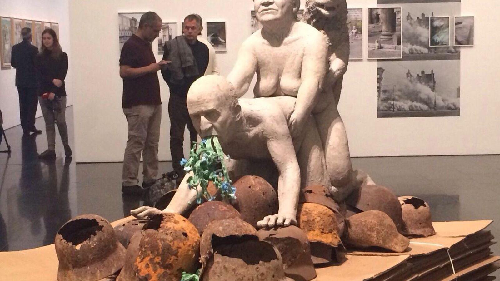 Foto: La escultura de la polémica en la exposición del MACBA