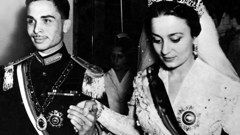 Foto: Boda del rey Hussein con la princesa Dina en 1955. (Cordon Press)
