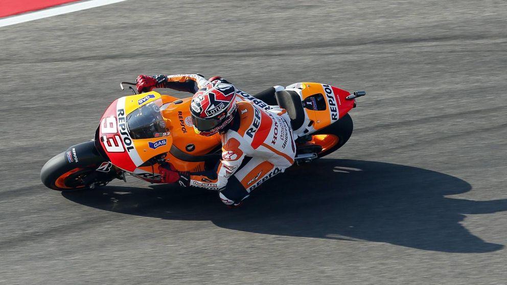 Márquez roza el récord de Aragón, pero Dovi mete gas para frenarle