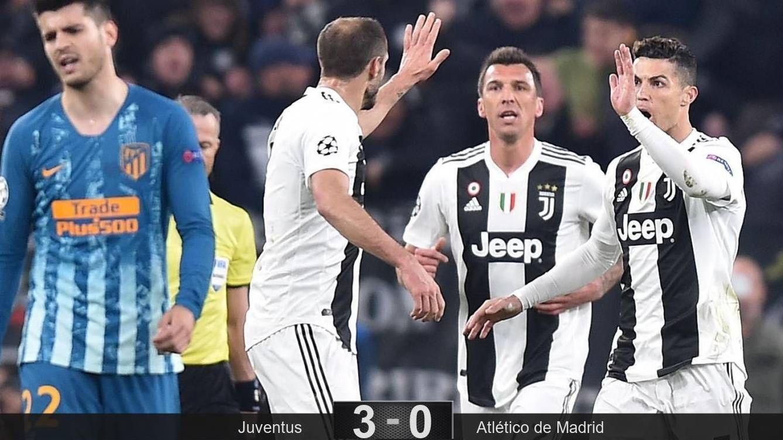 Foto: Cristiano Ronaldo celebra uno de los goles con sus compañeros.