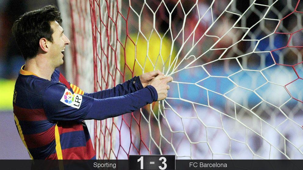 Messi pone al Barcelona al día y da un zarpazo a la Liga con un par de besos