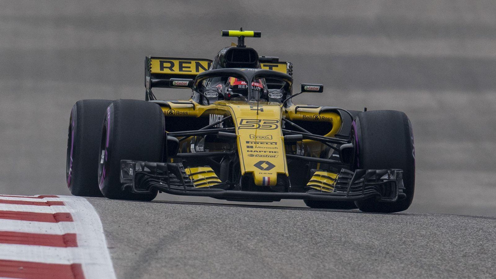Foto: Carlos Sainz durante la clasificación del GP de Estados Unidos. (Reuters)