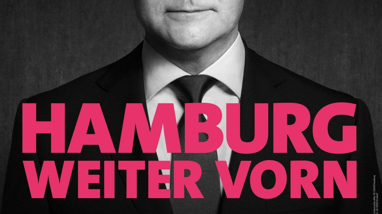 Imagen de campaña electoral de Olaf Scholz para su reelección como alcalde de Hamburgo.