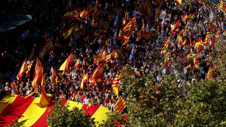 Manifestación por la unidad de España, el pasado 29 de octubre en Barcelona. (Reuters)