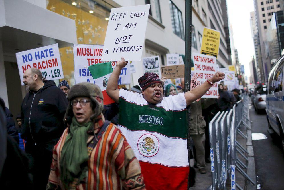 Foto: Manifestación contra Donald Trump en Manhattan (Reuters)