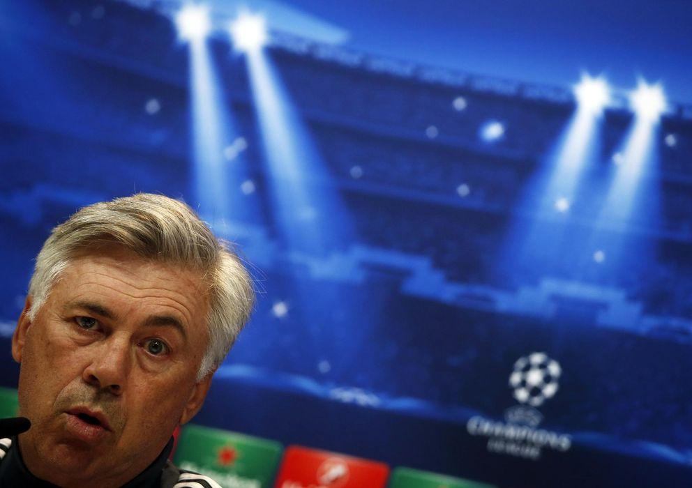 Foto: Ancelotti, en la rueda de prensa (Reuters).