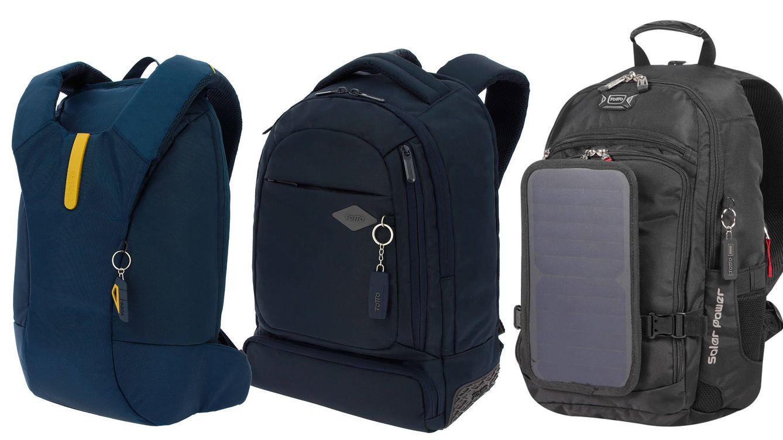 Foto: Diversos modelos de mochilas Totto. La Burbank 2.0 es la primera por la derecha.