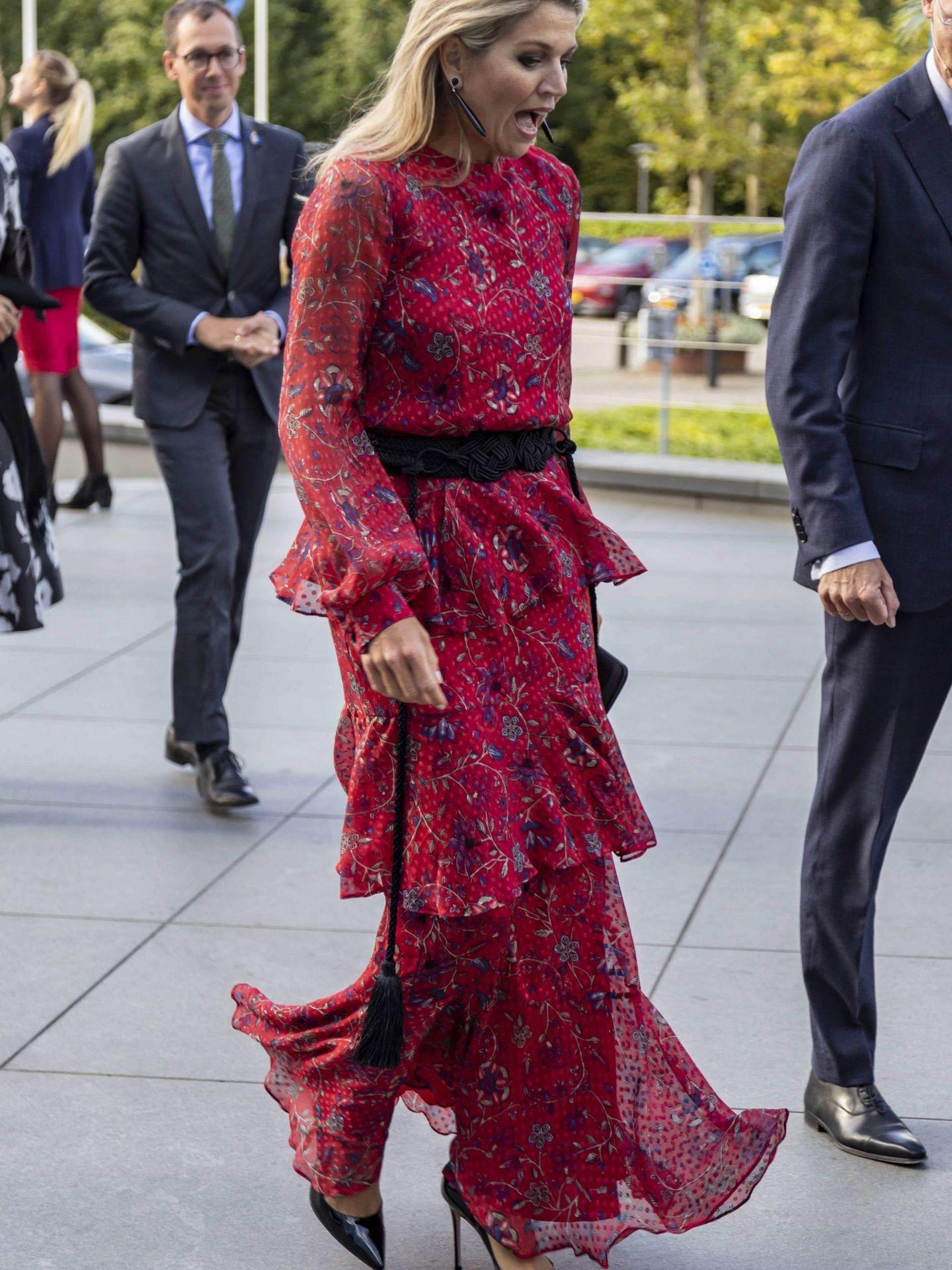 La reina Máxima con el vestido de Rebecca Ravenel. (Cordon Press)