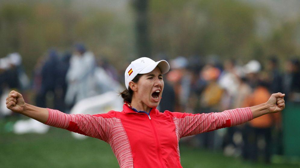 Foto: Carlota Ciganda celebra su primer triunfo en el LPGA Tour (REUTERS)
