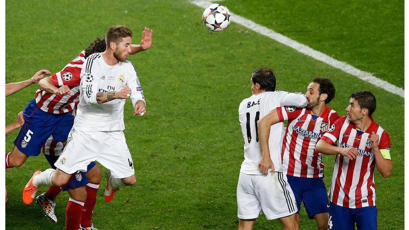 Foto: El gol de Sergio Ramos en el minuto 93 de la final de la Champions entre Real Madrid y Atlético que llevó el partido a la prórroga. (EFE)