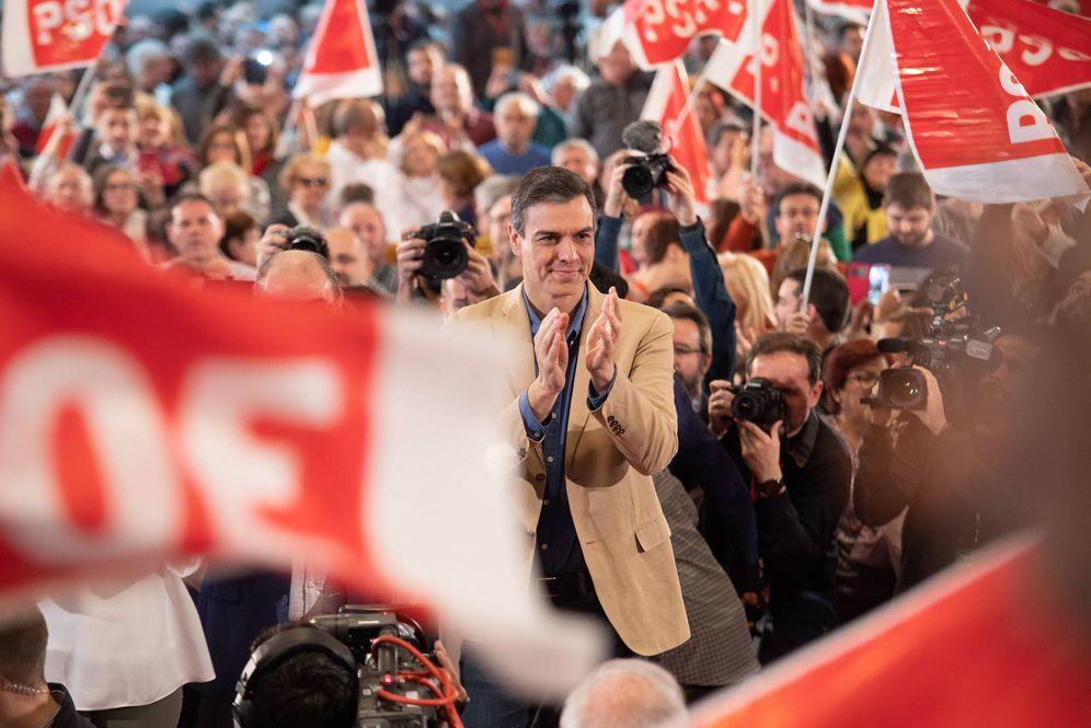 Foto: Pedro Sánchez, este 7 de abril, en el Palacio de Congresos Expo de Zaragoza. (Eva Ercolanese | PSOE)